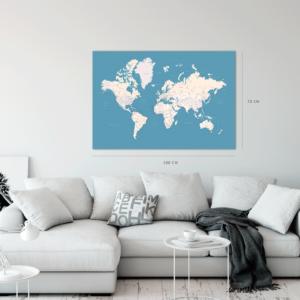 Karte-der-Welt-Pinnwand-hellblau