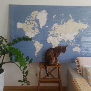 Kunstdruck-Pinnwand-auf-Echtholz-Keilrahmen-blau