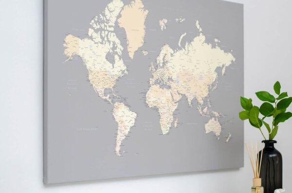 Kunstdruck-Pinnwand-auf-Echtholz-Keilrahmen-grau-cremefarben
