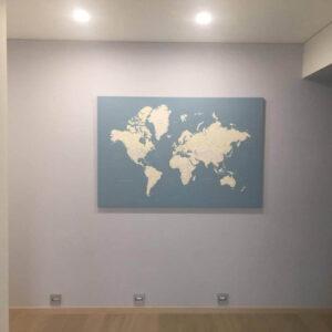 Kunstdruck-Pinnwand-hellblau