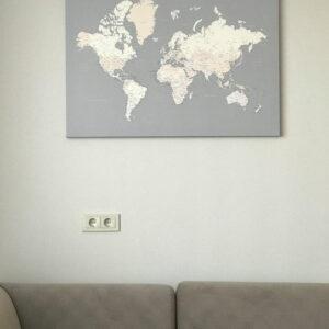 Kunstdruck-Pinnwand-weltkarte-leinwandbild