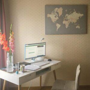 Pinnwand-Weltkarten-leinwand-wand-grau