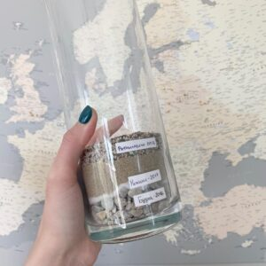 Reisekarte-Europa-Pinnwand-Grau-Detailliert