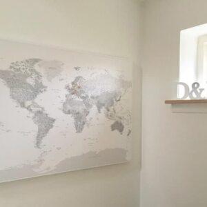 Zum-Aufhängen-bereites-Wandbild-Pinnwand-Weltkarte-Weiss