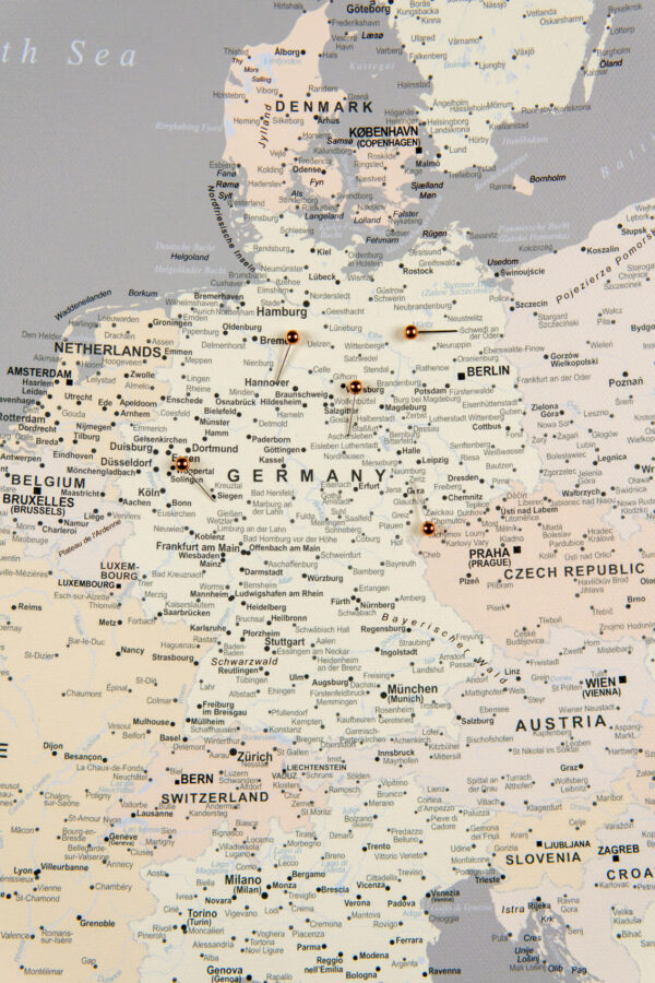 europa pinnwand kork grau