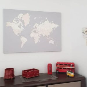 grau-cremefarben-weltkarte-auf leinwand-tripmapworld