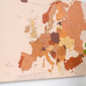 Detaillierte-Europakarte-Braun