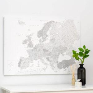 Europa-Pinnwand-Karte-Grau-Detailliert