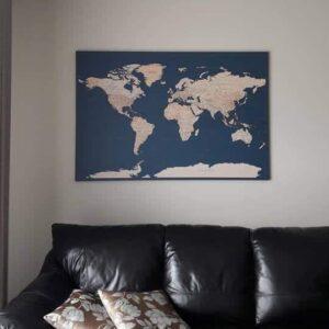 Pinnwand-wandkarte-Dunkelblau-Detailliert