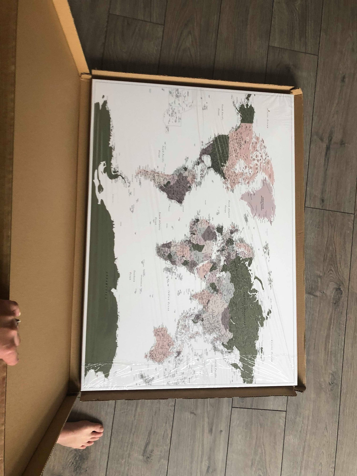 Detailliert karte pinnwand tripmapworld