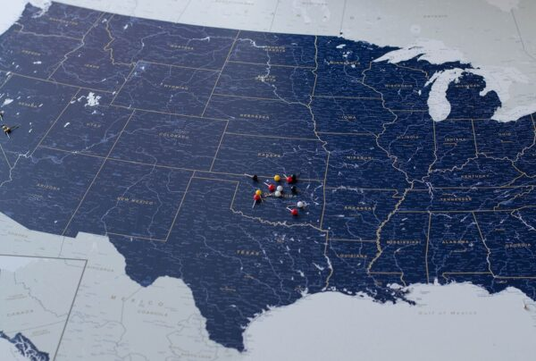 PINNWAND-USA-KARTEN-mit-stecknadeln-marineblau