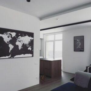 Schwarz-weiss-Welt-Karte-Pinnwand-wand