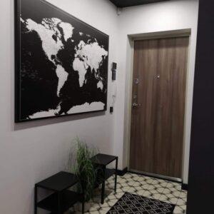 Welt-Pinnwand Karte-Modernes-Schwarz
