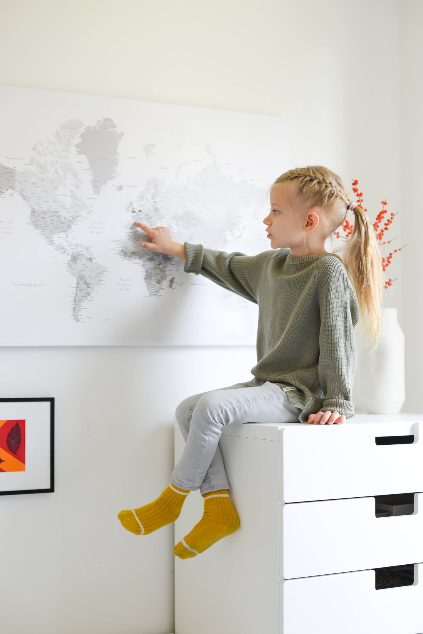 kids world map for learning