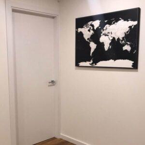 wand-Welt-Pinnwand Karte-Modernes-Schwarz