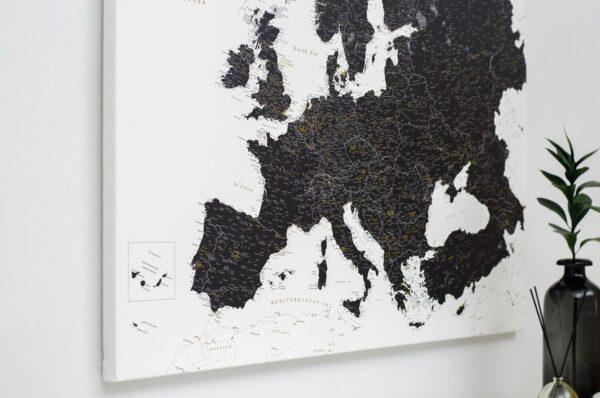 Schwarzweiß-Detailliert-Europa Pinnwand-