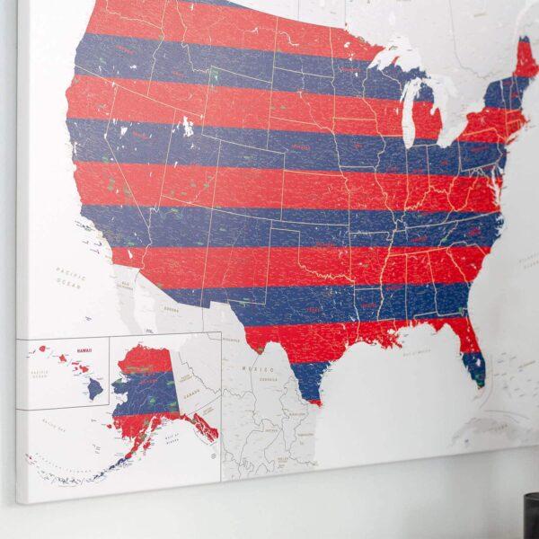 Leinwand-Pinnwand-USA-Karten-detailliert