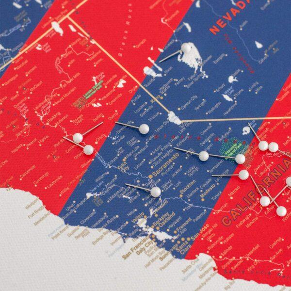 Pinnwand-USA-Karten-detailliert