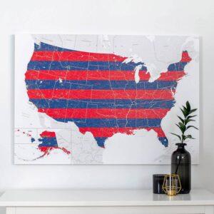USA-Pinnwand-Karte