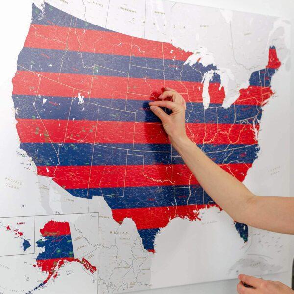 USA-Pinnwand-Karte-Independence-Day