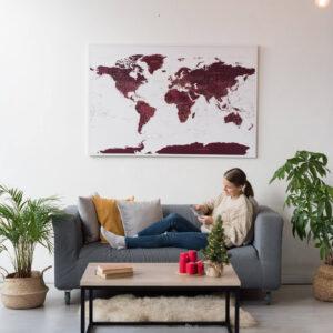 burgundy pinnwand karte tripmapworld