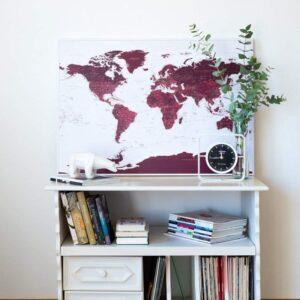 reisekarte-zum-drucken-wand-Weltkarte-burgund-kolorit