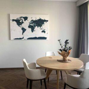 Innere-Pinnwand-Weltkarte-Meerblau-Detailliert