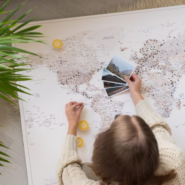 detailliert pinnwand weltkarte tripmapworld