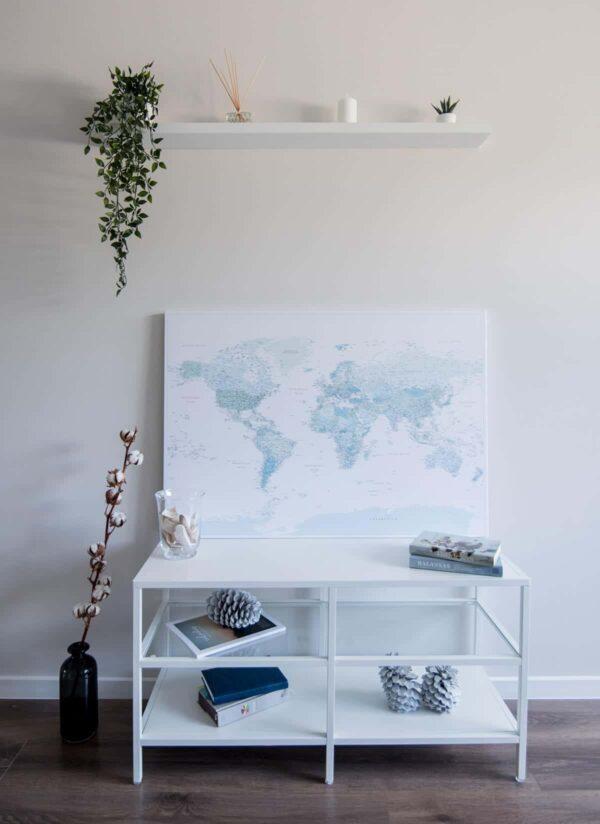 trip-map-world-Pinnwand-Weltkarte-Himmelblau-Detailliert