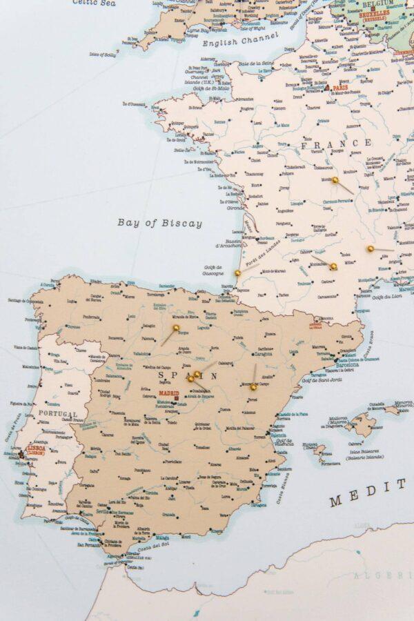 pinnwand europa karte retro