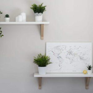 Leinwand-Kork-Zum-Markieren-60x40cm-Größe-Tripmapworld-Weiß
