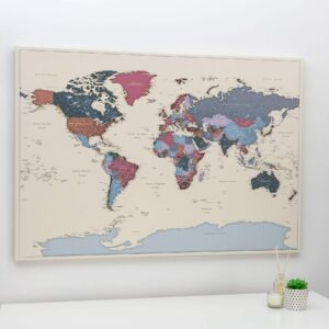 Pinnwand-Weltkarte-Weintraube-Detailliert