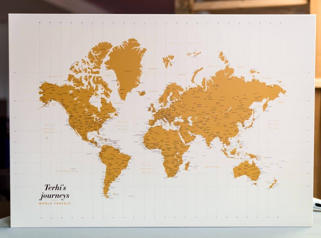 personalisierte Weltkarte tripmapworld