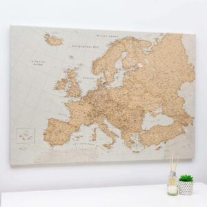 pinnwand europakarte vintage